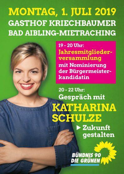 Katharina Schulze an 1., Juli in Bad Aibling
